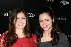 Vanessa Marano, Melissa Farman. LOS ANGELES - OCT 18:  Melissa Farman, Vanessa Marano arriving at the PS Arts 20th Anniversary Event at the Sunset Tower Hotel on Royalty Free Stock Images