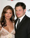 Vanessa Minillo. & Nick Lachey Clive Davis Annual Pre-Grammy Party Beverly Hilton Hotel Los Angeles, CA February 10, 2007 2007 Kathy Hutchins / Hutchins Photo Royalty Free Stock Photo