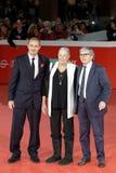 Vanessa Redgrave med hennes son Carlo Gabriel Nero - 12th Rome Fil Fotografering för Bildbyråer