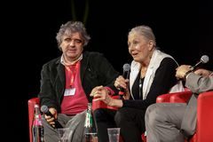 Vanessa Redgrave Meets The Audience - 12th Rome filmFest Royaltyfri Fotografi