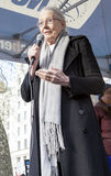 Vanessa Redgrave Speaks at Rally. royalty free stock image