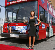 "Vanessa Williams. Actress and singer Vanessa Williams unveils her portrait and personalized logo at a ceremony for the ""Ride of Fame"" campaign of Gray Line New Stock Photography"
