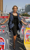 Vanessa Williams. Stunning actress and singer and former Miss America Vanessa Williams poses on the upper level of the Gray Lines New York double-decker tour bus Stock Images