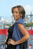 Vanessa Williams. Multi-talented singer and actress and a former Miss America, Vanessa Williams poses aboard the Gray Line New York double-decker tour bus at Royalty Free Stock Images
