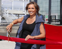 "Vanessa Williams. Singer, actress, television star, and former Miss America, Vanessa Williams cuts the ribbon at the ceremony for her induction into the ""Ride of Royalty Free Stock Photos"