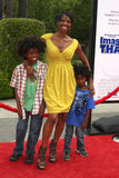 "Vanessa Williams. & Sons arriving at the ""Image That"" Premiere at the Paramount Theater on the Paramount Lot in Los Angeles, CA on June 6, 2009 Royalty Free Stock Image"