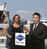 Vanessa Williams and David Chien Royalty Free Stock Photos