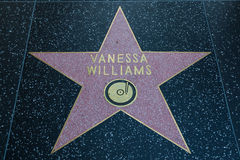 Vanessa Williams Hollywood Star. HOLLYWOOD, CALIFORNIA - February 8 2015: Vanessa Williams's Hollywood Walk of Fame star on February 8, 2015 in Hollywood, CA Stock Photo