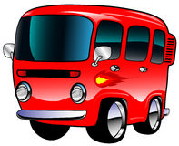 Vanette rouge Image libre de droits