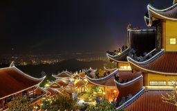 3 Vang寺庙,广宁省,越南 免版税库存图片