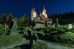 Free Vang Stave Church At Night In Karpacz Poland Royalty Free Stock Photo - 183377705