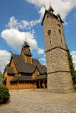 Vang stave church in Poland. Stock Photo
