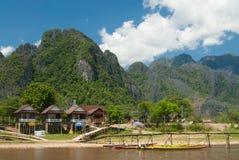 Vang Vieng,老挝人,亚洲 免版税库存照片