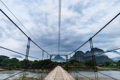 Vang Vieng,老挝,看法,早晨 库存照片