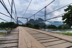 Vang Vieng, Лаос, взгляд, утро Стоковая Фотография RF