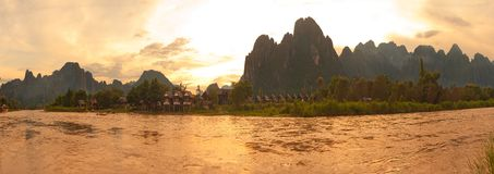 Vang Vieng royalty-vrije stock afbeeldingen