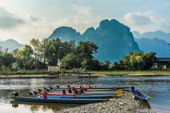 Vang Vieng Fotografia Stock Libera da Diritti