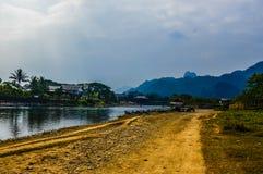 Vang-vieng Fluss Stockfotos