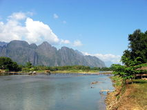 Vang Vieng glory. The beautiful nature of Vang Vieng city, Laos Royalty Free Stock Photography