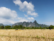 Vang Vieng karst mountains Stock Image