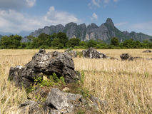 Vang Vieng karst mountains Stock Photo