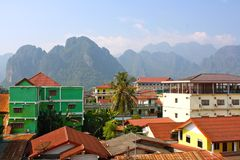 Vang Vieng landscape Royalty Free Stock Photography