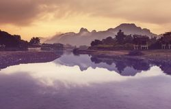 Vang Vieng landscapes Stock Photography