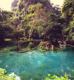 Vang Vieng landscapes Royalty Free Stock Photography