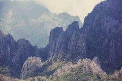 Vang Vieng landscapes Stock Photos