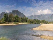 Vang Vieng, Laos stockfoto