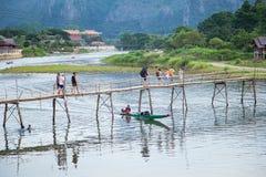 Vang Vieng, Laos Fotografia Stock Libera da Diritti
