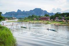 Vang Vieng, Laos Fotografie Stock