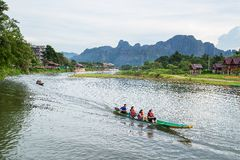 Vang Vieng, Laos Immagini Stock