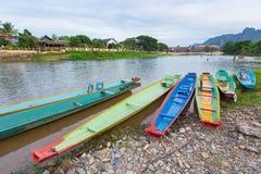 Vang Vieng, Laos Fotografie Stock Libere da Diritti