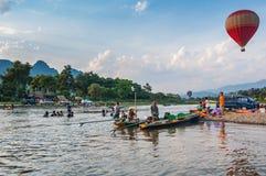 Vang Vieng, Laos Photos libres de droits