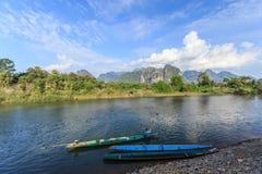 Vang Vieng, Laos Images libres de droits