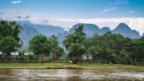 Vang Vieng, Laos. Stock Photo