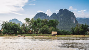 Vang Vieng, Laos. Royalty Free Stock Photos