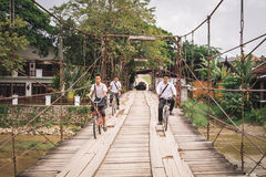 Vang Vieng LAOS, Październik, - 24 Obrazy Royalty Free
