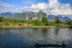 Vang Vieng, Laos. Vang Vieng and song river Laos Stock Image