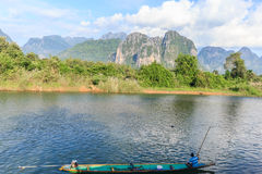 Vang Vieng, Laos. Vang Vieng and song river Laos Stock Photography
