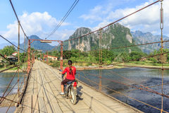 Vang Vieng, Laos. Vang Vieng and song river Laos Royalty Free Stock Photography