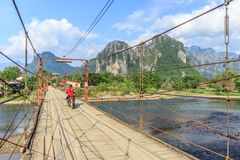 Vang Vieng, Laos. Vang Vieng and song river Laos Stock Photos