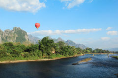 Vang vieng. Is a town that is beautiful royalty free stock photography
