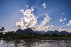 Vang Vieng Royalty Free Stock Photo