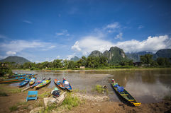 Vang Vieng. In Vientiane Laos royalty free stock photos
