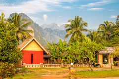 Vang Vieng. Village in Mountains Royalty Free Stock Images