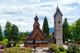 Vang (wang) stave church in Karpacz Royalty Free Stock Photography