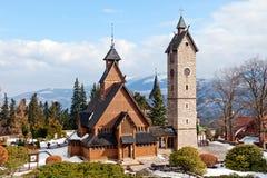 Vang (wang) stave church in Karpacz Stock Photography