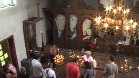 Vanga. Inside the church of St. Petka in Rupite, Bulgaria stock video footage